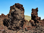 Rafted Blocks or Monoliths, Sections of a Broken Crater Wall, North Crater Flow Trail, Craters of the Moon National Monument and Preserve, Idaho