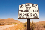 10 Miles of Track Laid Sign, Golden Spike National Historic Site, Promontory Summit, Utah