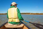 Canoeing on Nauset Marsh, Cape Cod National Seashore, Eastham, Massachusetts