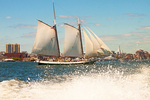 Liberty Clipper Tall Ship Sailboat, Boston Harbor, Massachusetts