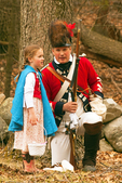 British Soldier and Child, American Revolutionary War Reenactor