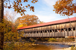 Albany Covered Bridge Over the Swift River, 19th Century Historic Bridge, Kancamagus Highway, White Mountains, New Hampshire