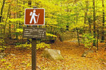 Trail Sign, Boulder Loop Trail, Kancamagus Highway, White Mountains, New Hampshire