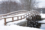 Old North Bridge in Winter, Minuteman National Historical Park, Concord, Massachusetts