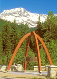 Memorial Arch, Rogers Pass National Historic Site, Columbia Mountains, Glacier National Park, British Columbia, Canada