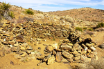 Miner Bunkhouse Stone Ruins, Lost Horse Mine Trail, Joshua Tree National Park, Twentynine Palms, California