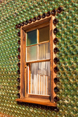 Window, Glass Bottle House, Calico Ghost Town, Yermo, California
