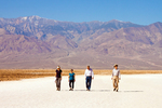 People Walking on Badwater Basin Salt Flats, Death Valley National Park, California