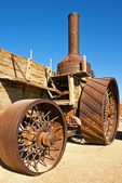Old Dinah, 19th Century Steam Tractor, Borax Mining Museum, Furnace Creek, Death Valley National Park, California