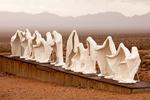 Last Supper Sculpture, Goldwell Open Air Museum, Charles Albert Szukalski sculptor, Rhyolite Ghost Town, Nevada