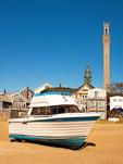 Boat on Beach, Pilgrim Monument and Museum, Cape Cod, Provincetown, Massachusetts