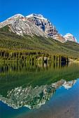 Mountain Reflections in Wapta Lake, Canadian Rockies, Yoho National Park, British Columbia, Canada