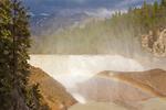 Wapta Falls, Kicking Horse River, Canadian Rockies, Yoho National Park, British Columbia, Canada
