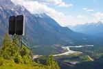 Microwave Relay Station on Mount Hunter, Yoho National Park, Canadian Rockies, British Columbia, Canada
