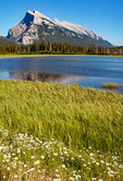 Mount Rundle Reflected in Vermilion Lakes, Canadian Rockies, Banff National Park, Alberta, Canada