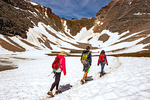 Hikers Approaching Sentinel Pass, Canadian Rockies, Banff National Park, Alberta, Canada