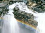 Athabasca Falls Rainbow, Athabasca River, Canadian Rockies, Jasper National Park, Alberta, Canada