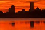 Sunset, Boston Skyline from Castle Island, Boston, Massachusetts