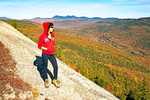 Hiker on Welch Mountain, Waterville Valley, White Mountains, New Hampshire