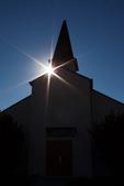 Silhouetted Chapel, Fort Tilden, Gateway National Recreation Area, Rockaway Peninsula, Queens, New York