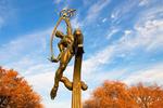 Rocket Thrower Statue, 1964 New York World's Fair, Flushing Meadows Park, Queens, New York