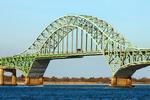 Fire Island Inlet Bridge, Robert Moses Causeway, Steel Arch Span Bridge, Robert Moses State Park, Long Island, New York