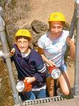 Children at Sentinel Cave Lava Tube, Lava Beds National Monument, Tulelake, California