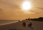 Sunset on Beach, Sanibel Island, Florida