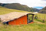 Cabin and Mountains, Jocotoco Reserve Antisanilla, Antisana Volcano, Ecuador