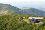Greenleaf Hut on Mount Lafayette, Cannon Mountain in Distance, Appalachian Trail, Franconia Notch State Park, White Mountains, New Hampshire