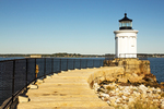 Granite Breakwater, Portland Breakwater Light, Bug Light, Greek Revival Architectural Style, Portland Harbor, Portland, Maine