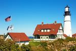 Maine's Rocky Coast, Portland Head Light, 18th Century Lighthouse, Portland Harbor, Casco Bay, Cape Elizabeth, Maine