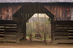 Cantilever Barn, Tipton Place, Cades Cove, Great Smoky Mountains National Park, Tennessee