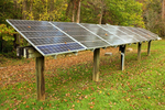 Solar Panels at Sugarlands Visitor Center, Great Smoky Mountains National Park, Tennessee