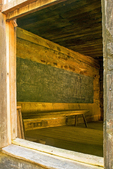 Interior, Little Greenbrier School, Great Smoky Mountains National Park, Tennessee