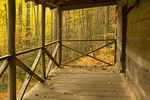 Porch, Mayna Avent Cabin, Jakes Creek Trail, Great Smoky Mountains National Park, Tennessee