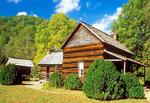 John Davis Cabin, Mountain Farm Museum, Oconoluftee Section, Great Smoky Mountains National Park, North Carolina