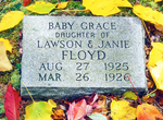 Baby Grace Gravestone, Baskins Creek Cemetery, Baskins Creek Falls Trail, Roaring Fork Motor Nature Trail, Great Smoky Mountains National Park, Tennessee