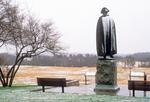 General Von Steuben Statue in Winter, American Revolutionary War Bronze Statue, Valley Forge National Historical Park, Pennsylvania