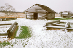 Soldier's Huts in Winter, American Revolutionary War, Valley Forge National Historical Park, Pennsylvania