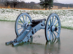 Cannon in Winter, American Revolutionary War, Valley Forge National Historical Park, Pennsylvania