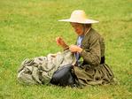 Civil War Woman Sewing