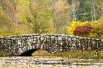 Stone Bridge and Autumn Foliage, Ipswich River Wildlife Sanctuary, Massachusetts Audubon Society, Topsfield, Massachusetts