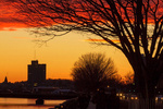 Charles River Sunset, Boston Skyline, Boston, Massachusetts