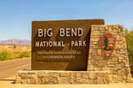 Entrance Sign, Big Bend National Park, Chisos Mountains, Chihuahuan Desert, Texas