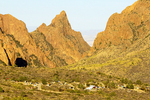 Basin Campground and Chisos Mountains, Chihuahuan Desert, Big Bend National Park, Texas