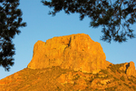 Casa Grande Rock Formation, Chisos Mountains, Chihuahuan Desert, Big Bend National Park, Texas