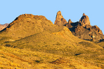 Mule Ears Rock Formation, Chisos Mountains, Chihuahuan Desert, Big Bend National Park, Texas