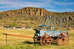 Blue Wagon and Officers Quarters, Fort Davis National Historic Site, Davis Mountains, Fort Davis, Texas