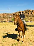 Reenactor on Horseback, Fort Davis National Historic Site, Davis Mountains, Fort Davis, Texas